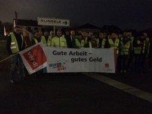 Das Bild ist vom Warnstreik Klingele in Delmenhorst
