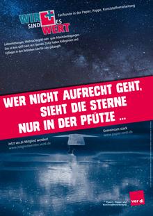 Plakat: Wer nicht aufrecht geht