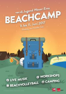 Beachcamp 2017 der ver.di Jugend Weser-Ems