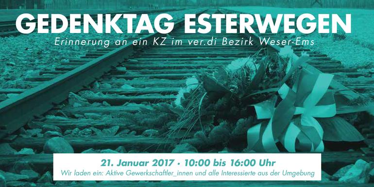 Gedenktag Esterwegen - Erinnerung an ein KZ im ver.di Bezirk Weser-Ems