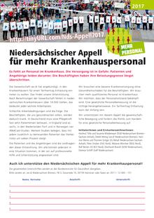 Niedersächsischer Appell für mehr Krankenhauspersonal