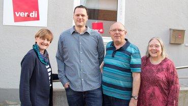 Die neue Führungsspitze des Ortsvereins mit dem bisherigen Vorsitzenden.(Von links: Dr. Wilma Westermann (1.stv. Vorsitzende, Lars Hanken (Vorsitzender, Bernd Lehmann, Monika Rowetter (2. stv. Vorsitzende))