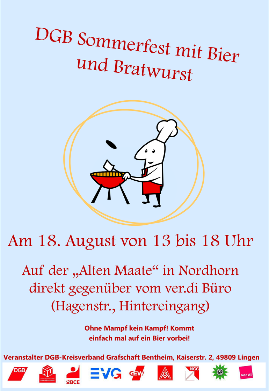 Sommerfest 2018: Ortsverein Grafschaft Bentheim