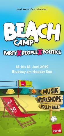 Beachcamp 2019 der ver.di Jugend Weser-Ems