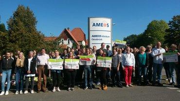 Ameos-Beschäftigte setzten sich weiter für gute Arbeitsbedingungen ein