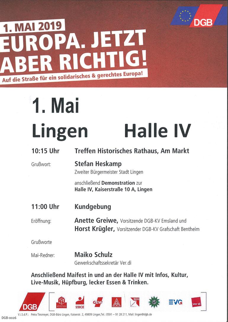 Tag der Arbeit 2019 in Lingen