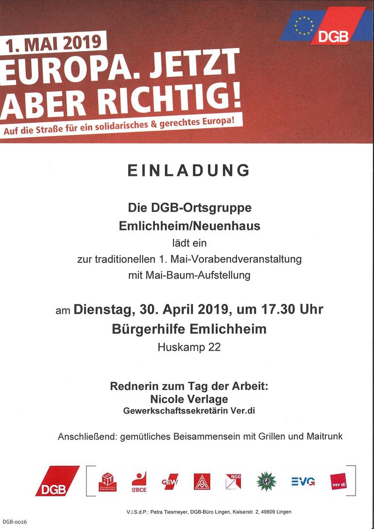 Tag der Arbeit 2019 in Emlichheim/Neuenhaus