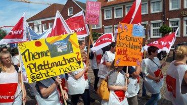 Wieder Streik im Tourismusbetrieb Esens-Bensersiel