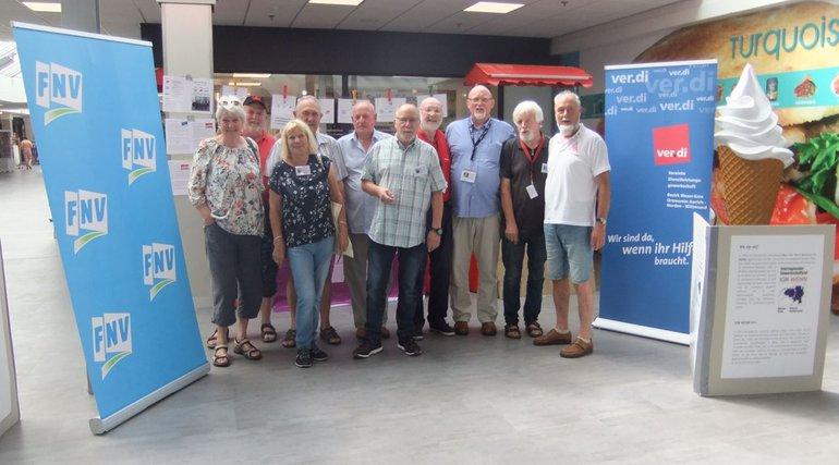 Ortsverein Aurich-Norden-Wittmund beteiligt sich im Rahmen des DGB an Aktionen mit den Niederländischen Gewerkschaften.