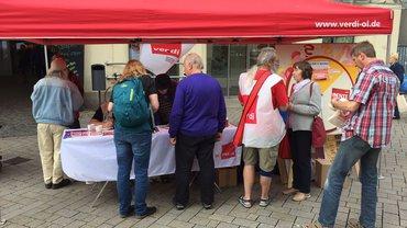 Altersarmut fällt nicht vom Himmel - Infostand der Erwerbslosen 13.07.2017 in Oldenburg