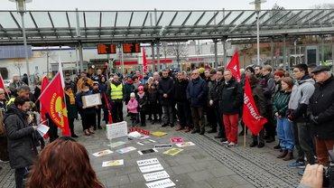 Mahnwache am 07.02.2020 für die Opfer des rassistischen Anschlags in Hanau