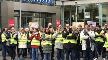 Tarifrunde Sparda Bank 2019: Warnstreik am 05.11.2019 in Hannover