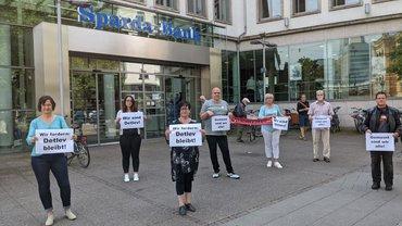 Sparda-Kündigung wegen Nichtigkeit: Erster Protest von Beschäftigten