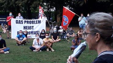 Kundgebung am 19.08.2020 in Osnabrück: Hanau mahnt - Rassismus tötet!
