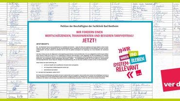 Beschäftigte der Rehaklinik verlangen Tarifvertrag