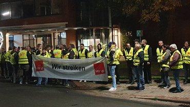 Delkeskamp Beschäftigte streiken in Nortrup für einen Tarifvertrag